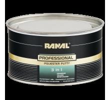 RANAL PROFESSIONAL 3 в 1 полиэфирная наполняющая шпатлевка 1,9 кг