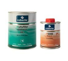 ROBERLO MULTYFILLER EXPRESS ME-3 Грунт-наполнитель быстросохнущий, темно-серый 1 л + Р6000 быстрый отвердитель 0,25 л (комплект)