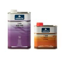 ROBERLO UNIX 450 HS Акриловый лак 1 л + С355 отвердитель 0,5 л (комплект)