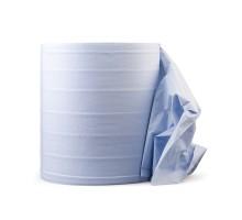Бумажная салфетка MULTIWIPE, 2-слойная, перфор.рулон 1000шт, 33х35см, синяя