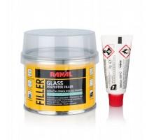 RANAL GLASS MICRO - полиэфирная стекловолоконная шпатлевка 0.25 кг