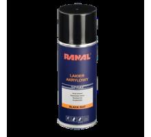 RANAL - Эмаль матовая черная аэрозоль 400 мл