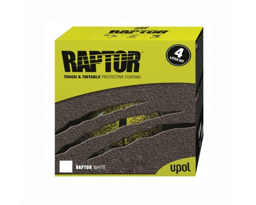 RAPTOR™ U-POL комплект белый, 3.8л.